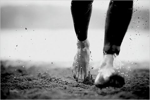 Barefoot run